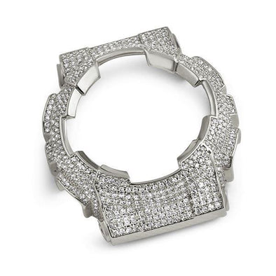 Bling Bling CZ Bezel Rhodium for Casio Baby G Shock