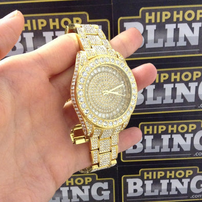 Bling Bling 41MM Gold Fully Custom Watch