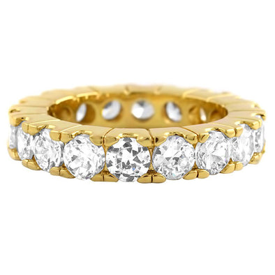 Gold Eternity 4MM CZ Bling Bling Ring