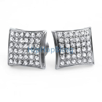 .72cttw Diamond Kite Earrings in Stainless Steel