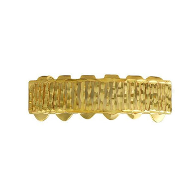 Gold Grillz Bar Diamond Cut Bottom