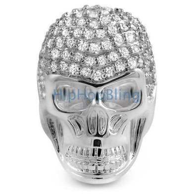 3D Skull CZ Custom Mens Bling Bling Ring