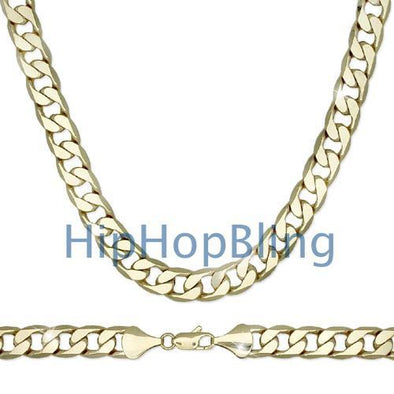 Cuban 12mm 30 Inch Gold Plated Hip Hop Chain