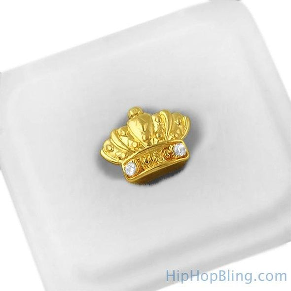 Gold King Crown Cap Tooth Grillz
