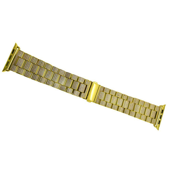 Gold CZ Bling Aftermarket Band for iWatch