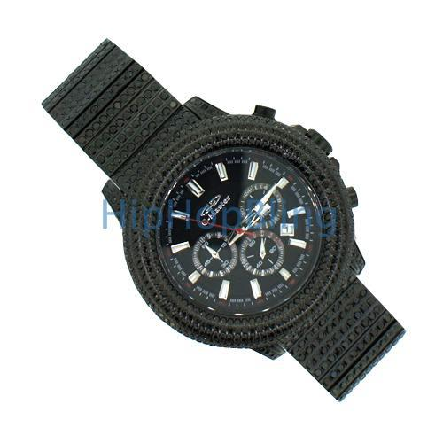 Bling Bling Lab Made Chrono Watch All Black Custom Band