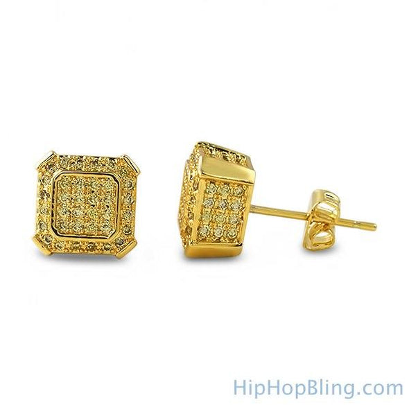 Ballers Lemonade Hip Hop CZ Earrings