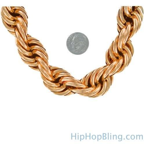 Dookie Rope Chain Rose Gold 20MM Necklace