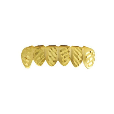 Gold Grillz Diagonal Cut Teeth Bottom