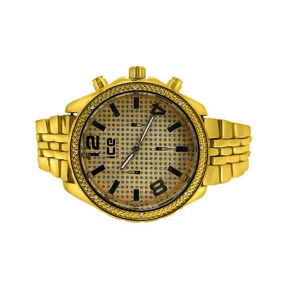 Gold Sport Jubilee Band Hip Hop Watch
