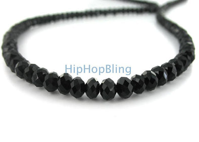 Rick Ross Style Black Diamond Solitaire Necklace