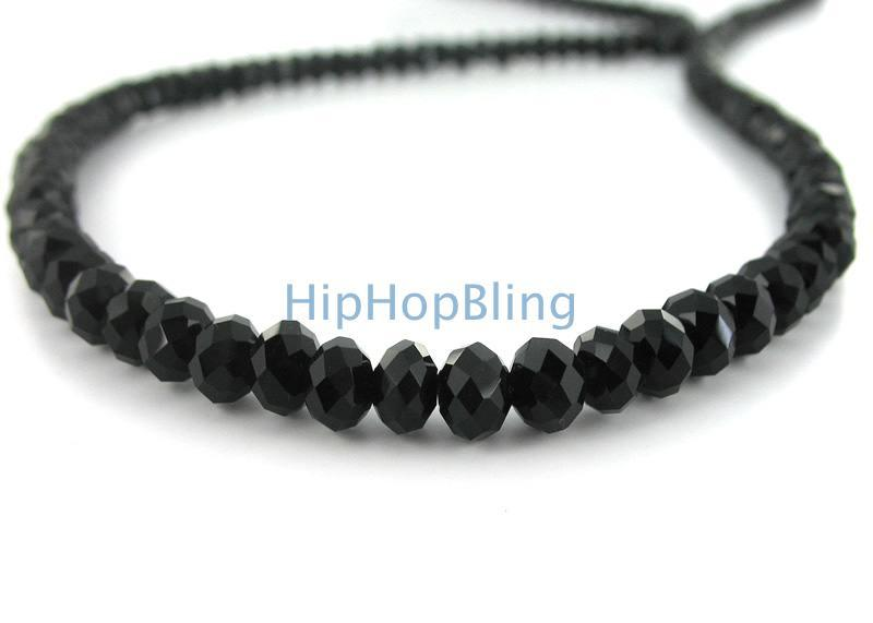 Rick Ross Style Black Diamond Solitaire Necklace HipHopBling