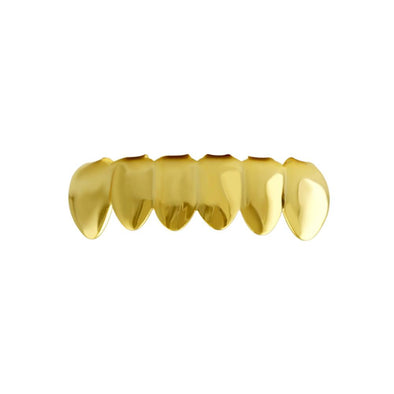 10K Yellow Gold Grillz for Bottom Teeth
