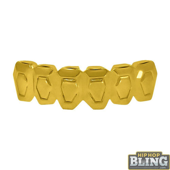 Custom Boxy Style Gold Grillz Bottom Teeth