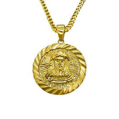 HipHopBling Gold Jesus Piece Medallion