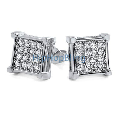 Box Micro Pave CZ Bling Bling Earrings