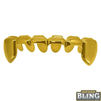Gold Grillz Half Open Bottom Teeth