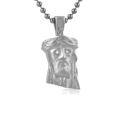 VS Diamond Nano Jesus Piece .925 Silver (Free 36 Inch Bead Chain)