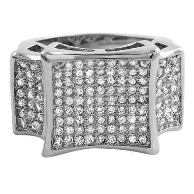 Kite CZ Micro Pave Bling Bling Ring