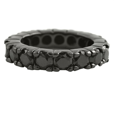 Eternity CZ Black Bling Bling Ring