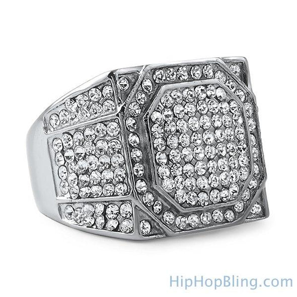 Stainless Steel Bling Bling Emperor Ring