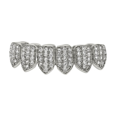Bling Bling Grillz Silver CZ Bottom Teeth