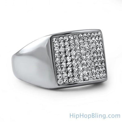 Players Bling Stainless Steel Hip Hop Ring