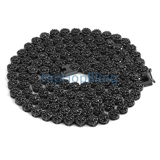 CZ Cluster Black Bling Bling Chain