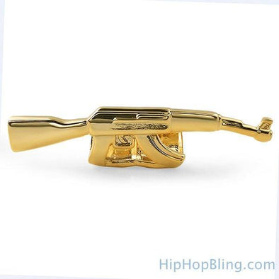 Gold Machine Gun Grillz