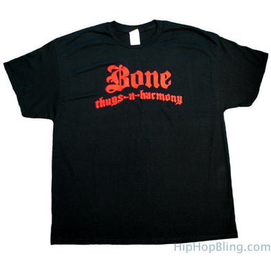 Bone Thugs n Harmony Red Logo Black T Shirt (S)