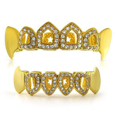 Fang Grillz Open Tooth Gold Teeth Set