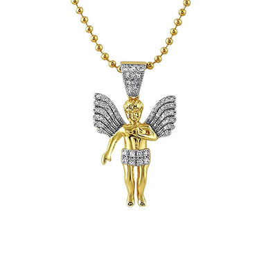 Big Wings Mini Angel Gold Pendant