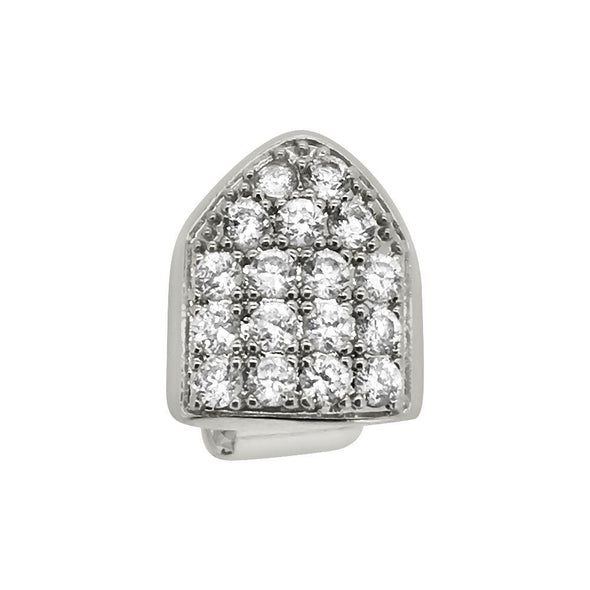 Bling Bling Grillz CZ Single Tooth Top Silver