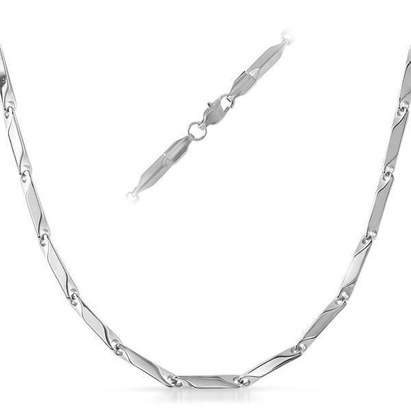 Bullet Stainless Steel Chain Necklace 3MM