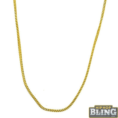 .925 Sterling Silver 1MM Franco Chain Gold