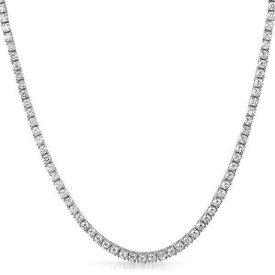 .925 Sterling Silver 3MM CZ Bling Bling Tennis Chain