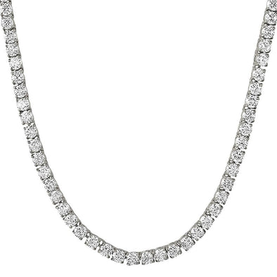 .925 Silver 4MM CZ Bling Tennis Chain Rhodium