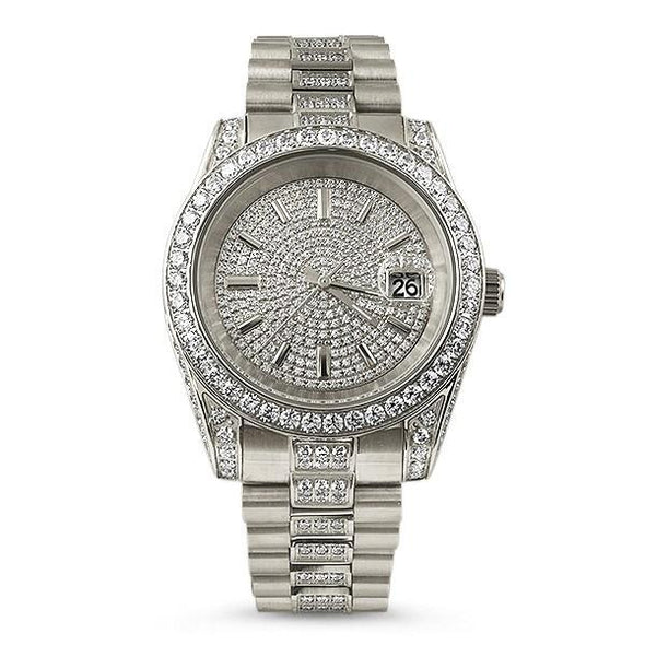 The Executive Never Tarnish Steel CZ Watch