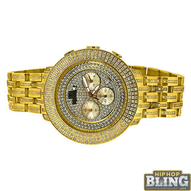4.00 Carat Diamond Prince Gold Watch by IceTime