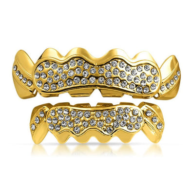 Gold Bling Bling Custom Hip Hop Grillz Set