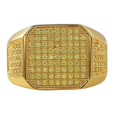 Lemonade Boss CZ Micro Pave Bling Bling Ring