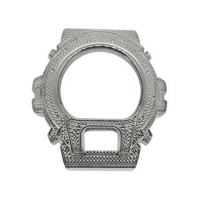Diamond .12 Carat Silver Bezel for Casio G Shock DW6900