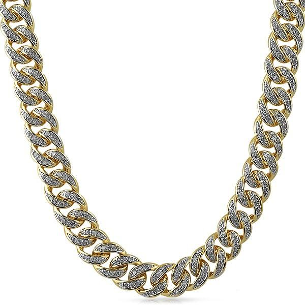 Miami Cuban Bling Bling CZ 13MM Gold Chain f69a174a30a9