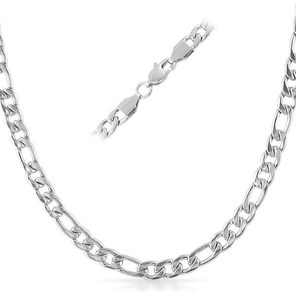 Figaro Stainless Steel Chain Necklace 6MM