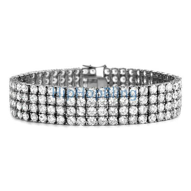 316L Stainless Steel Bling Bling 4 Row Bracelet NEVER FADE