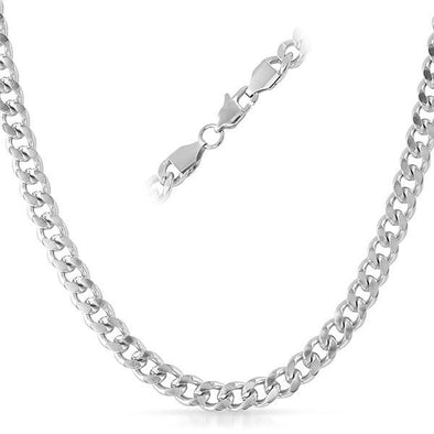 Cuban Stainless Steel Chain Necklace 6MM