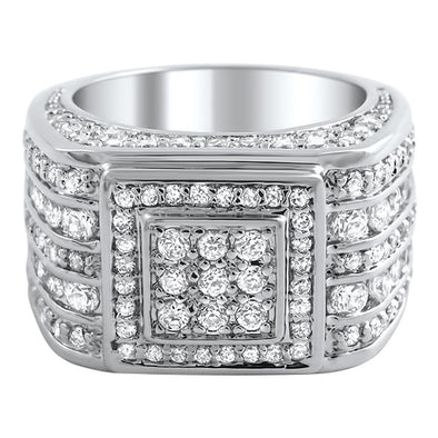 .925 Silver Godfather CZ Bling Bling Ring (7)