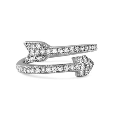CZ Arrow Ring .925 Sterling Silver Celeb Inspired