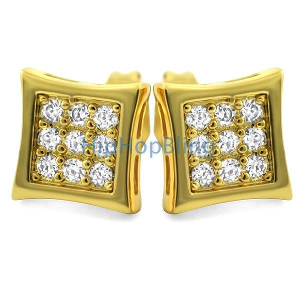 780f9fa3201f4 Kite Small Gold CZ Micro Pave Bling Earrings