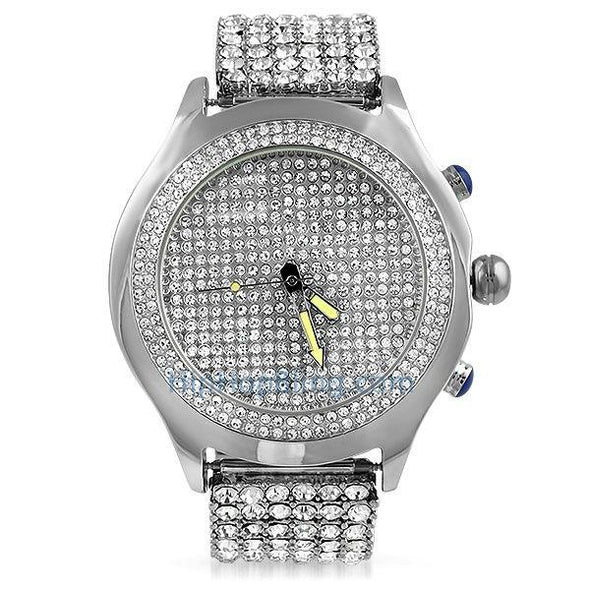 Blizzard Bling Bling Watch 6 6 Row Iced Out Band